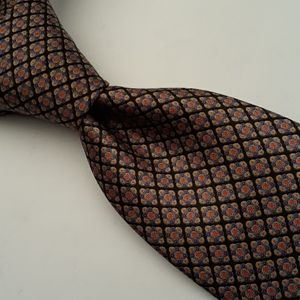 STEFANO RICCI Italy Black Gold Pink Abstract Tie